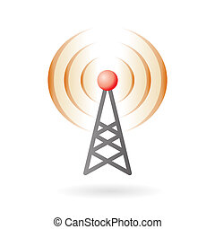 Pod-cast and broadcasting icon - Illustration of radio ...