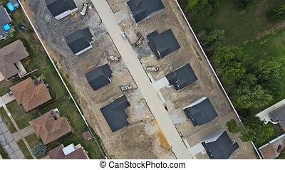 pod, dom, townhouses, mieszkaniowy, budowany, zbudowanie, ...