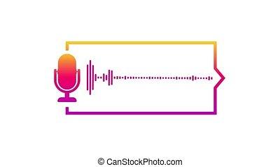 Podcast. Badge, icon stamp logo Motion graphics