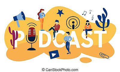 Podcast concept illustration - Podcast concept. Idea of...