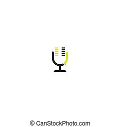 Podcast icon logo illustration design