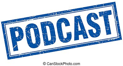 podcast square stamp