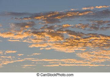 podczas, chmury, wschód słońca