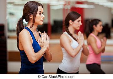 podczas, medytacja, yoga klasa