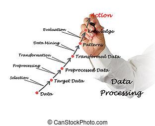 poddawanie procesowi, dane