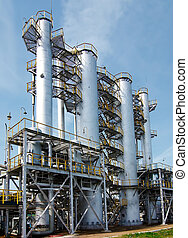 poddawanie procesowi, gaz, fabryka, prospekt