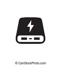 poder, banco, ícone