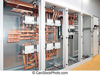 poder, elétrico, switchboard