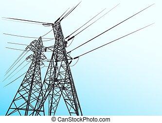 poder elétrico, transmission.