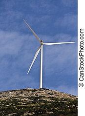 poder elétrico, vento, geradores, localizado, em, arcadia,...