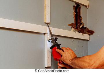 poder equipar herramienta, para, carpintería, para, corte, materiales