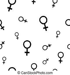poder menina, venus, seamless, padrão
