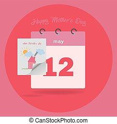 poder, plano, calendario, 12