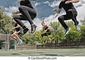 poder, salto, exercício