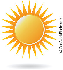 poder, sol, logotipo