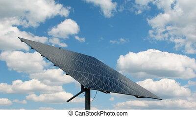poder solar, timelapse