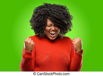 poder, sucesso, grande, energia, excitado, celebrando, trabalho, emotions., expressar, positivo, novo, feliz, celebra, alegre, vitória