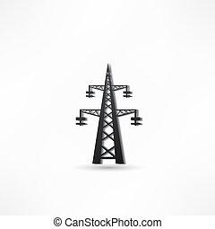 poder, torre transmissão