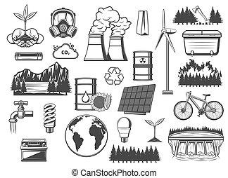 poder verde, fontes, meio ambiente, energia