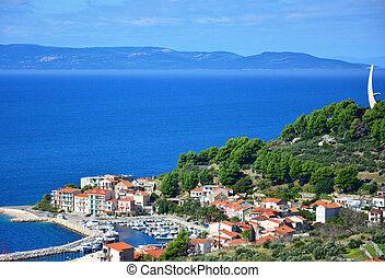 Podgora azure view - great azure scenic view on podgora in...