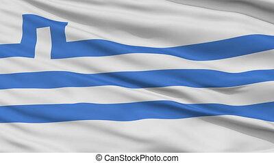 Podgorica City Close Up Waving Flag