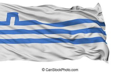 Podgorica City Isolated Waving Flag