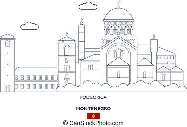 Podgorica City Skyline, Montenegro - Podgorica Linear City...