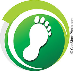 podiatrist green symbol on a white background