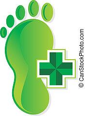 podiatrist symbol - podiatrist foot medical vector symbol