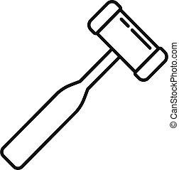 Podiatrist tool icon, outline style