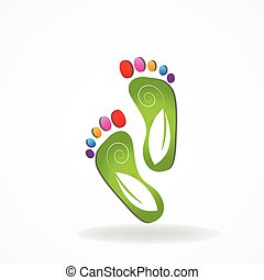 Podiatry icon logo