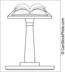 podio, biblia, abierto
