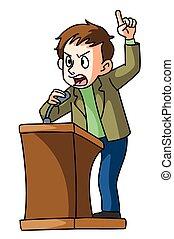 podio, discurso