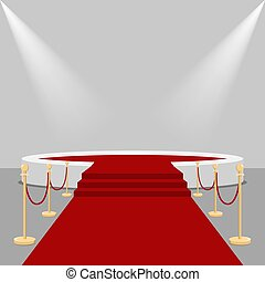 podium., 紅的地毯
