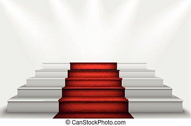 podium, escalier