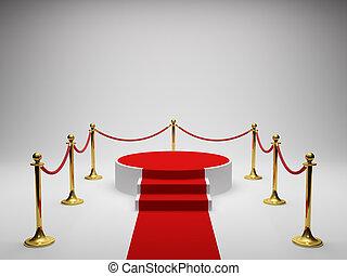 podium, för, vinnare