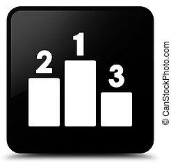 Podium icon black square button