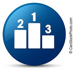 Podium icon blue round button