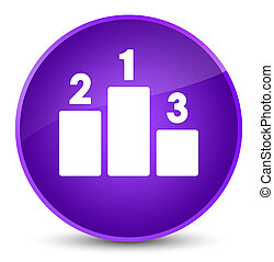 Podium icon elegant purple round button