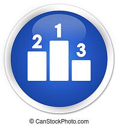 Podium icon premium blue round button