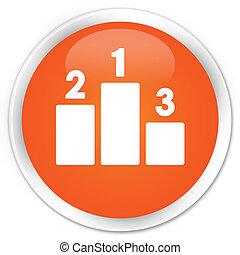 Podium icon premium orange round button