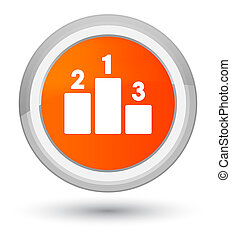 Podium icon prime orange round button