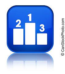 Podium icon special blue square button