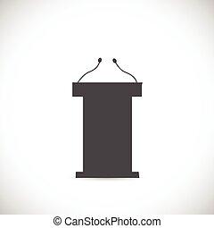 Podium Illustration - Illustration of a podium silhouette...