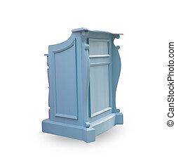 podium isolated - blue podium isolated on the white...