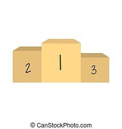 podium, lege, pictogram