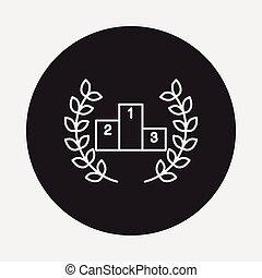 Podium line icon