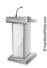podium, mic