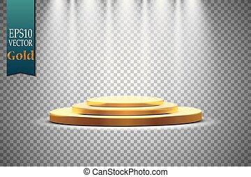 Podium on a transparent background. Vector illustration