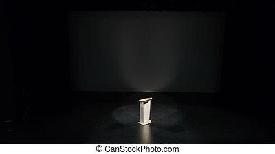 Podium on the stage 4k - Empty podium on the stage 4k
